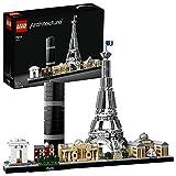 LEGO 21044 Architecture Paris avec Tour Eiffel et Louvre, Collection Skyline, Idée Cadeau de Construction à Collectionner