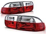 Luces traseras compatibles con Honda Civic 1991 1992 1993 1994 1995 Coupe 2 Puertas Sedan 4 Puertas GV-1849 Luz trasera de montaje de de luces traseras conjunto rojo blanco