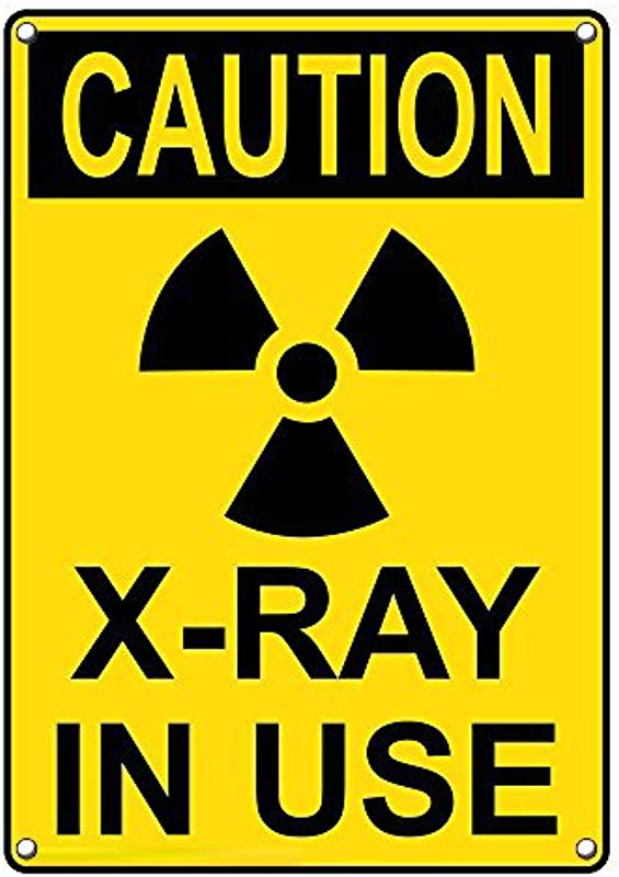 Weatherproof Plastic Vertical OSHA Caution X Ray In Use Sign With English Text And Symbol