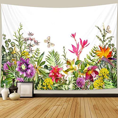 KHKJ Planta Flor Tapiz Tapiz de Dormitorio decoración del hogar Bohemia Hippie Escena psicodélica colchón Mandala sofá Manta A5 200x150cm