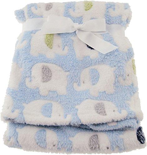 Bieco babydecke Jungen Blau Elefanten | Baby Decke | Kuscheldecke Baby | Baby Blanket | Tagesdecke Kinder Jungen | Buggy Decke |  Baby Kuscheldecke |  Kissen | Decke Baby| Flauschige fFeecedecke