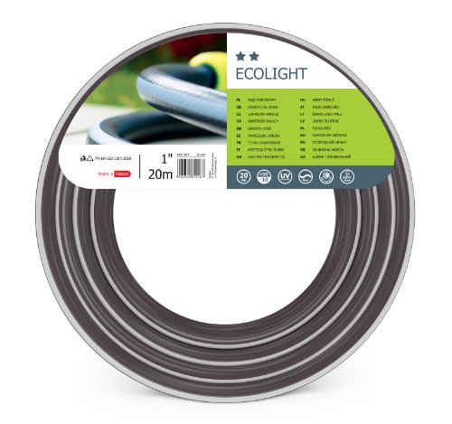 Cellfast Ecolight Tuinslang, elastisch en flexibel, 3-laags waterslang van polyester, druk- en UV-bestendig, 20 bar, barstdruk, 30 m, 1 inch, 10-181