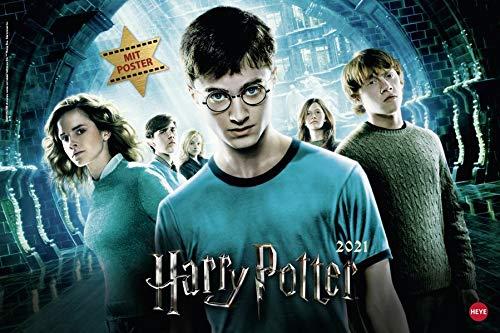 Harry Potter Broschurkalender XL 2021 - mit großem Poster - Wandkalender mit Monatskalendarium und Platz für Eintragungen - Format 45 x 30 cm (45 x 60 cm geöffnet)