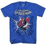 Marvel Boys' Big Amazing Spider-Man T-Shirt, Royal Heather, Small