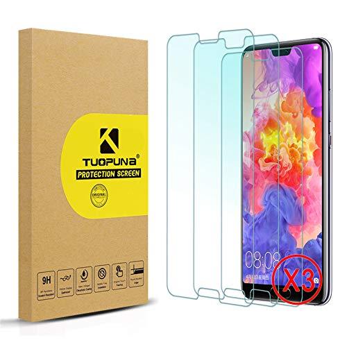 Tuopuna [3 Packs for Huawei P20 Schutzfolie,Ultra-klar Displayschutzfolie,9H Härte (die Hälfte Deckung) Gehärtetes panzerglas,Keine Blasen Screen Protector for Huawei P20