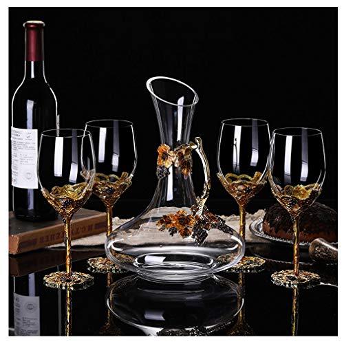 Glazen Decanter 6 Whisky Glazen Set 7 Stuks Crystal Whiskey Set 4cup