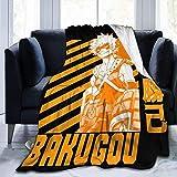 My Hero Academia Collage Comics Anime Manga BNHA Katsuki Bakugou Flanelldecke Weiche Tagesdecke Mikrofaser Fleece Decke Langlebig Wohnkultur Ideale Couch Sofa Outdoor