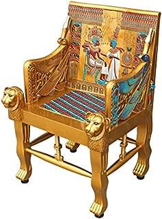 Design Toscano King Tutankhamen's Tomb Egyptian Throne Chair, 41 Inch, Gold