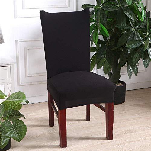 Stuhlbezug schwarz Stretch Dining Stuhlhussen High Back Chair Schutzbezug Schonbezug, abnehmbare weiche Spandex Dining Chair Schonbezüge für Hotel Dining Room Kitchen (6er Pack)