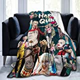 GIPHOJO Fleece Throw Blanket Har-Ley Qui-nn - Lightweight Cozy for Beds, Sofa, Couch, Picnic, Camping, Travel 50'X40' Gifts