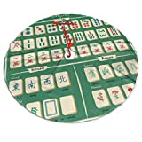 Complete Mahjong Christmas Tree Skirt,Ornaments Xmas Tree Skirt for Holiday Birthday Wedding Party Decorative,Yard Supermarket Outdoor Indoor Mat Decorations
