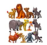 The Lion King Action Figures, The Lion King Toys Collectible Figures Set of 12 Pcs , Mufasa & Simba The Lion King Cupcake Topper Decorations Toy Set , Cake Decoration