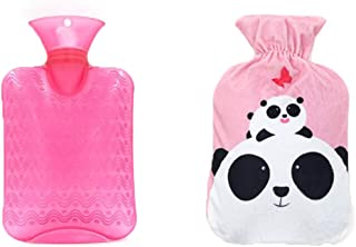 1 Liter Classic Hot Water Bottle with Cover - Lovely Panda