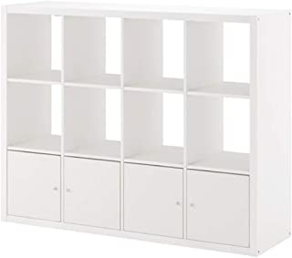 IKEA Kallax Shelf Unit with 4 Inserts White 792.782.50 Size 57 7/8x44 1/8