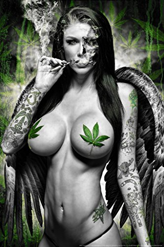 Ganja Girl BW by Daveed Benito Cool Wall Decor Art Print Poster 12x18