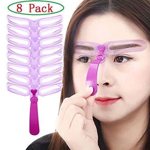 Meifen Eyebrow Mold, 8 Style Eyebrow Template Mold Set DIY Easy Makeup Tool (8Pack)