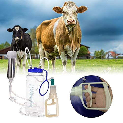 GCSEY 2L Koe Geit Schapen Handleiding Automatische Melkmachine Draagbare Melk Opgewaardeerd RVS Borst Pomp Kleine Huishoudelijke