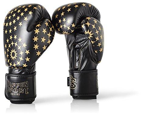 Paffen Sport Lady Frauenboxhandschuhe – Boxhandschuhe für Damen – schwarz/Gold – 12UZ