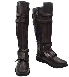 Snuter Film Adulte Halloween Cosplay Film Unisexe Chaussures Bottes Noires Bottes Marron