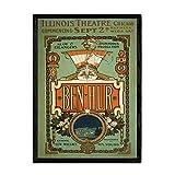 Nacnic Vintage Poster Ben Hur. Blätter für Interieur mit