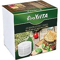 Vaso de germinación - Cultiva brotes orgánicos en tu propia casa | Este kit de 3 capas permite cultivar 3 especies diferentes de semillas, 1 en cada bandeja