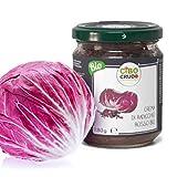 Cibocrudo Crema di Radicchio Rosso Bio, per Pasta con Noci o Risotto, Spalmabile su Tartin...