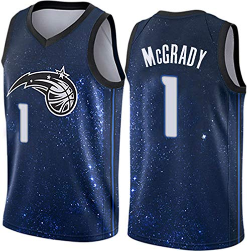 HZHEN Baloncesto de los Hombres NBA Jersey-Tracy McGrady 1# Orlando Magic Ropa, Vintage Cool All-Star All-Star Unisex Uniforme,A,M(170~175cm/65~75kg)