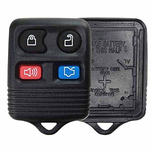 KeylessOption Just the Case Keyless Entry Remote Car Key Fob Shell Replacement -...