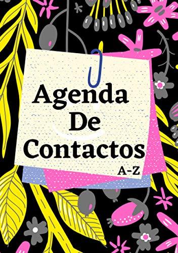 Agenda de contactos A-Z | Libreta de direcciones y telefonos pequeña: Agenda telefónica con abecedario | Cuaderno directorio telefónico. A5.