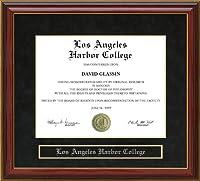 Wordyisms ロサンゼルスハーバーカレッジ (LAHC) マホガニー卒業証書フレーム
