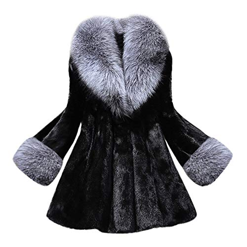 Gorgeous Coat,KIKOY Womens Long Section Of Faux Mink Fox With Cap Fur Jackets