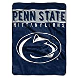 The Northwest Company 1 Pc, Penn State Nittany Lions Blanket 60x80 Raschel Basic Design, Acrylic & Polyester, Extra Warm & Superior Durability, Easy Care, Machine Washable & Dryable