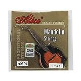 Alice Cuerdas de mandolina AM04 E-1st de acero chapado en acero extra ligero
