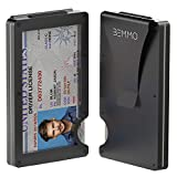 Bemmo Aluminum Metal Card Holder Wallet RFID Blocking With Money Clip   Slim Minimalist Wallet For Men Can Hold Up To 10 Cards, 1-10 Bills With Easy-Show ID Window   Stylish ID Holder Wallet Is A Great Gift Idea