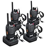 eSynic 4pcs Walkie Talkies-2 way radio Long Range Walkie Talkie with Original Earpieces- 2 Way Radio Walky...
