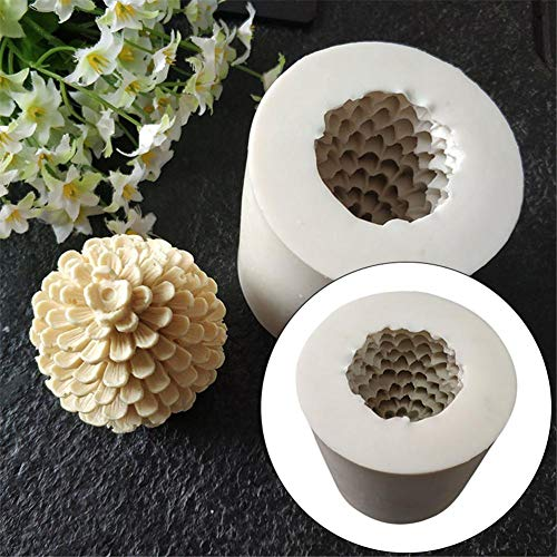 EZIZB 3D Making Mold Pine Cones Christmas Tree Silicone Candle Soap Silicone Molds for Candle Making Chocolate Cake Mould Decoration Tool Cozy