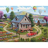 Spilsbury - 300 Large Piece Premium Jigsaw Puzzle for Adults by Artist John Zaccheo - Summer Cottages - Spilsbury Puzzle Company Premium Collection