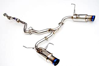 Invidia (HS11STIGTT) N1 Twin Outlet Single Layer Cat-Back Exhaust System with Titanium Tip for Subaru WRX STI 4-Door
