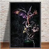 Décoration de la Maison Toile Mur Art Diable Anime Nordique Photo Affiche modulaire,Peinture sans cadreCJX2156-60X90cm