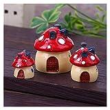 OYPY Vintage Decoración para el hogar Artificial Micro Paisaje Decoración de champiñones Miniatura Hada Jardín Mini Craft Decoración para el hogar Accesorios (Color : 3pcs Mushroom)
