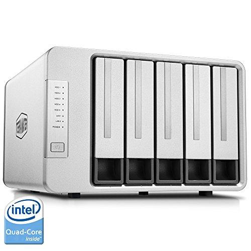 TerraMaster F5-420 5ベイ NAS 2.0GHz intelクアッドコア4GBメモリ スマホ/タブレット対応 RAID1/RAID0/JBO...