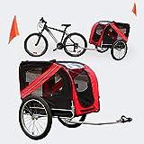 WilTec Remorque de vélo pour Chien Poussette pour Chien Attelage pour Chien Chariot Transport de Chien