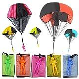Vegena 5 Pcs Parachute Jouet, Main Lancer Parachute Jouet Set, Jouet de Parachute pour Enfants, Jouet Parachute Jeté à la Main Créatif Multicolore de Plein air pour Enfants, Cadeau aux Enfants