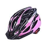 YOUCAI Bicicleta Casco Adulto Unisexo Integrado Andar en Bicicleta al Aire Libre Ajustable Cascos de Bicicleta Pink Negro