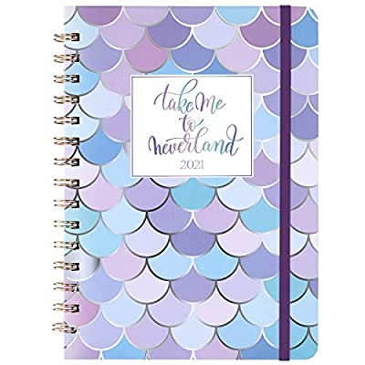 """2020-2021 Planner - Academic Weekly & Monthly Planner, 6.4"""" x 8.5"""", July 2020 - June 2021, Flexible Hardcover with Strong Golden Binding, Elastic Closure, Coated Tabs, Inner Pocket"""