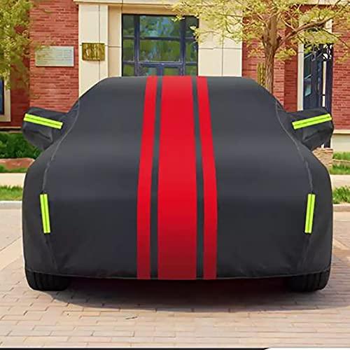 Vollgarage Autoplane Autoabdeckung Autobezug Schutzhülle Regen UV Sonne Staubdicht Wasserdicht für Fiat 500 Abarth 5-door Hatchback 2017 2018 2019, Auto-Außenschutzzubehör