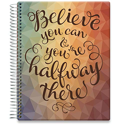 Tools4Wisdom Daily Planner 2021-2022 - April 2021 to June 2022 Calendar - 8.5 x 11 Hardcover - Full-Color - Academic Planner - Vertical Weekly Planner Layout - Q2S15 - Believe U Can