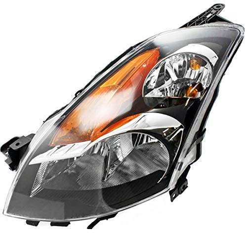 Headlight Assembly Compatible with 2007-2009 Nissan Altima Halogen Sedan/Hybrid Driver Side