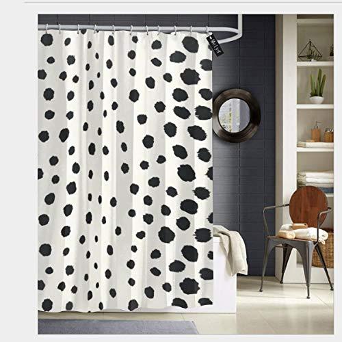 Colin-Design Cortina de Ducha para baño, diseño de Guepardo, con 12 Ganchos, 182,88 x 182,88 cm