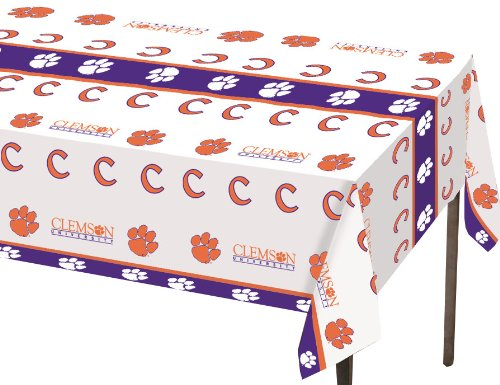 Creative Converting Clemson Tigers Plastic Table Cover, 54'x108' -